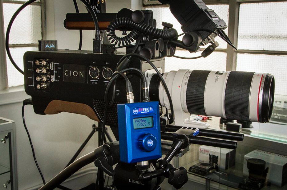 Canon EF Electronic Mount to AJA Cion (with the aperture control unit)