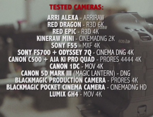 4K Shooters 12 Cameras Test