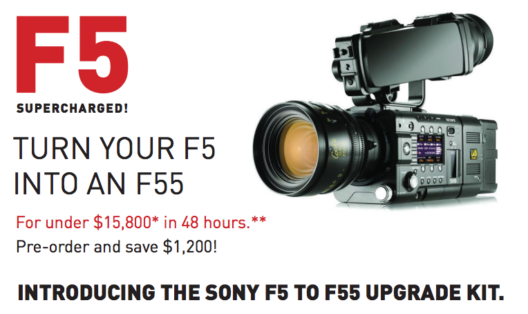 Turn your F5 into F55 4K Shooters