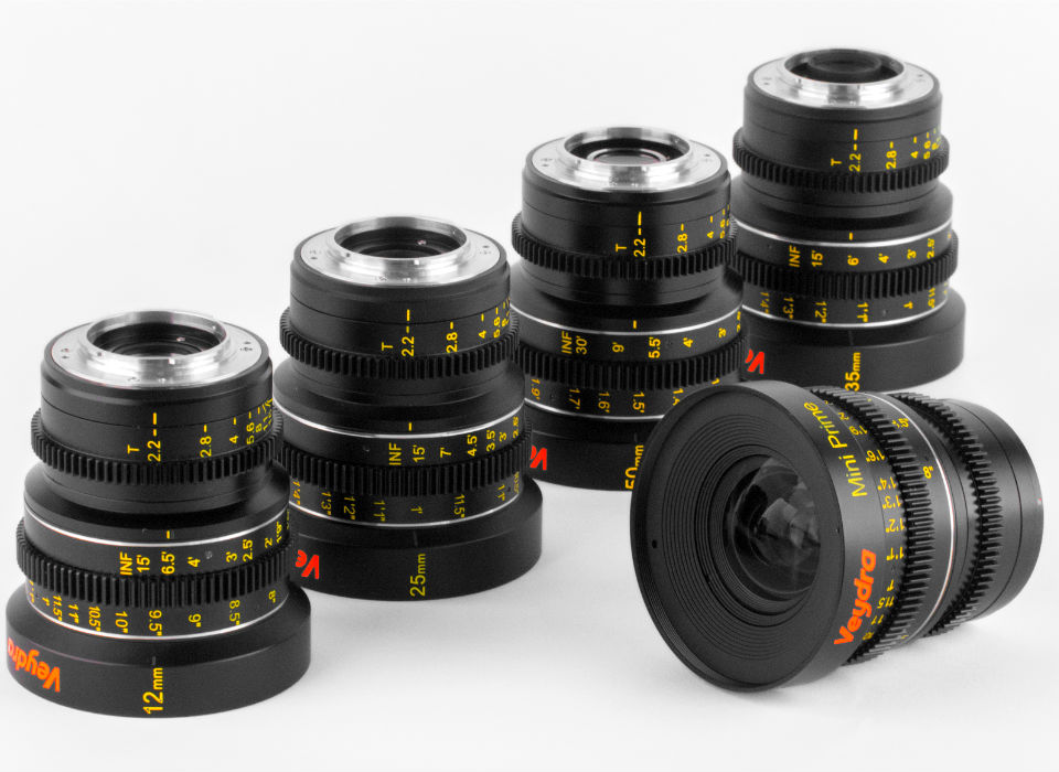 Veydra Mini Prime Cinema Lenses Micro Four Thirds GH4 BMPCC