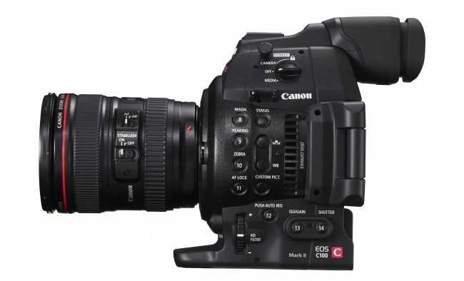 EOS C100 Mark II core lens1 Right