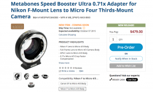 GH4 Speed Booster ULTRA Nikon