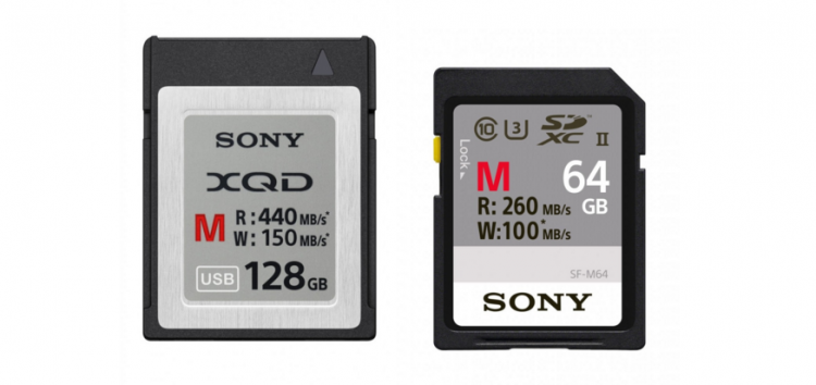 Sony XQD M-series SDXC Cards