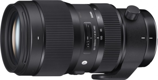 Sigma 50-100mm f1.8 Art Lens Side View
