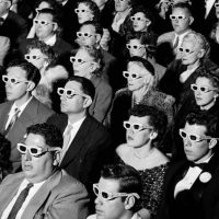 3D glasses cinema audience