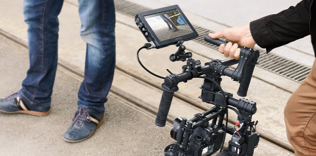 Blackmagic Video Assist 4K on a GImbal