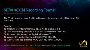Compress RAW Sony F55 AXS-R7 raw recorder