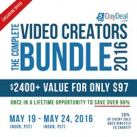 5DayDeal 2016 Video Creators Bundle