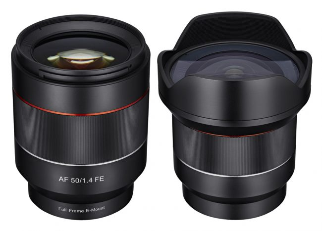 Samyang Autofocus 14mm f2.8 and 50mm f1.4 FE Sony