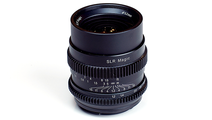 SLR magic 35mm Cine f1.2 E mount