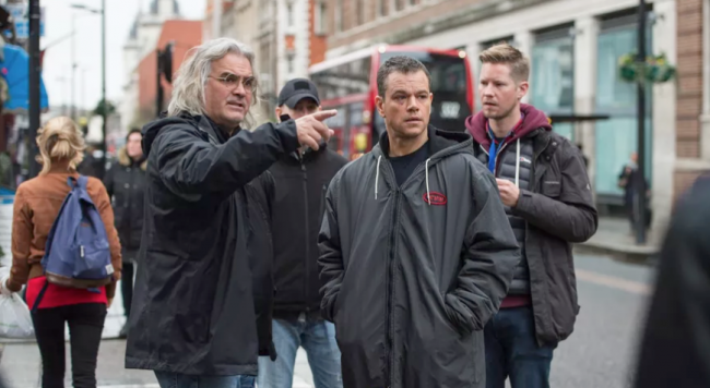 matt Damon Paul Greengrass Jason Bourne Set 2016