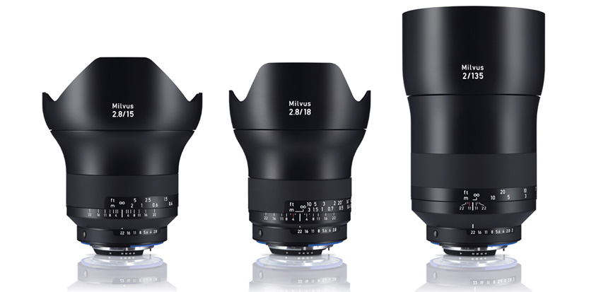 The focal lengths 15mm, 18mm and 135mm are each being offered as a ZF.2 mount for Nikon and as a ZE mount for Canon cameras. In addition, the ZF.2 version is equipped with a manual aperture ring.