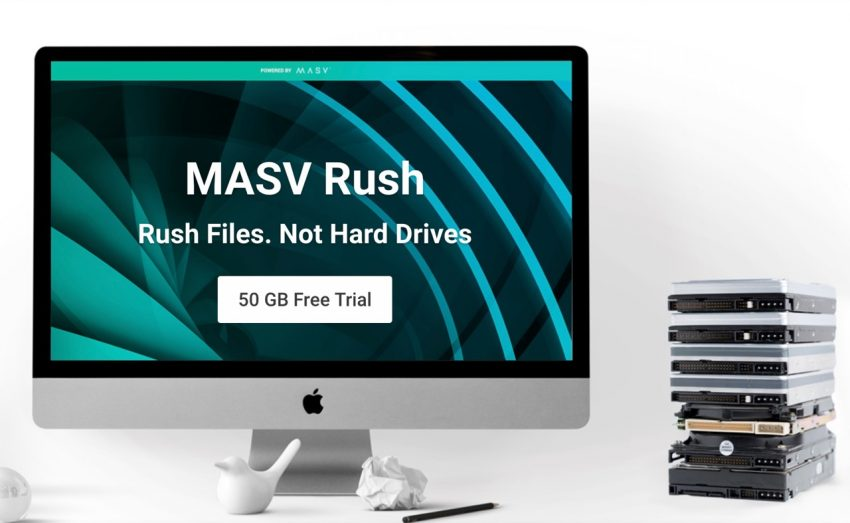 MASV RUSH MASV.IO Large File Transfer Service