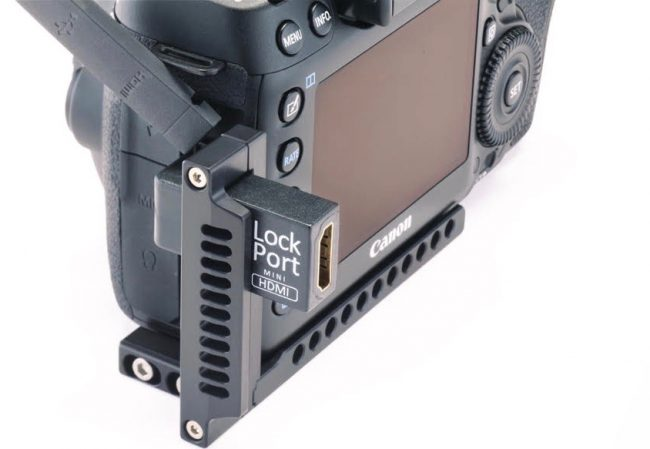 Lockcircle announce dual hdmi usb 3 0 port protector for for Canon 5dm4