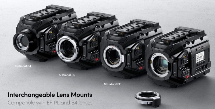 URSA Mini Pro EF B4 PL Mounts
