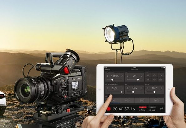 Blackmagic URsa mini pro 4.6K ipad bluetooth remote control