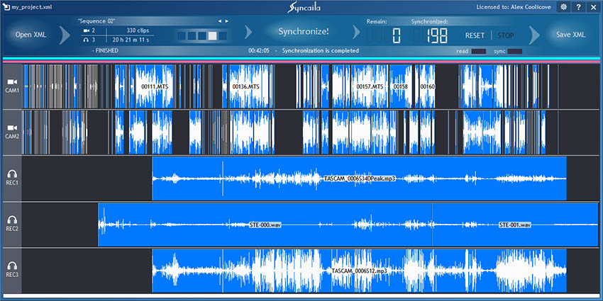 Syncalia Audio Sync Software 02 4k Shooters