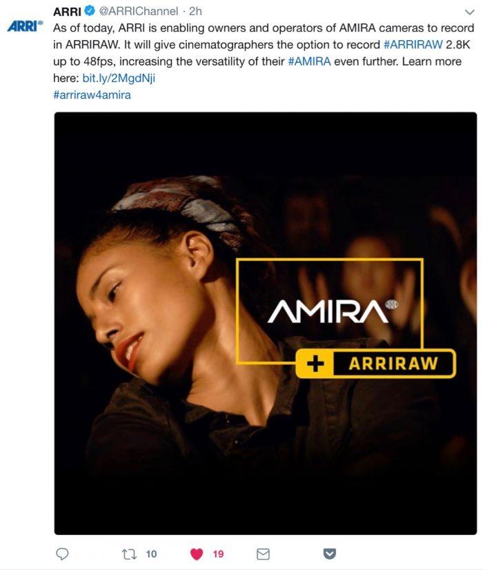 ARRI Amira ARRIRAW 2.8k