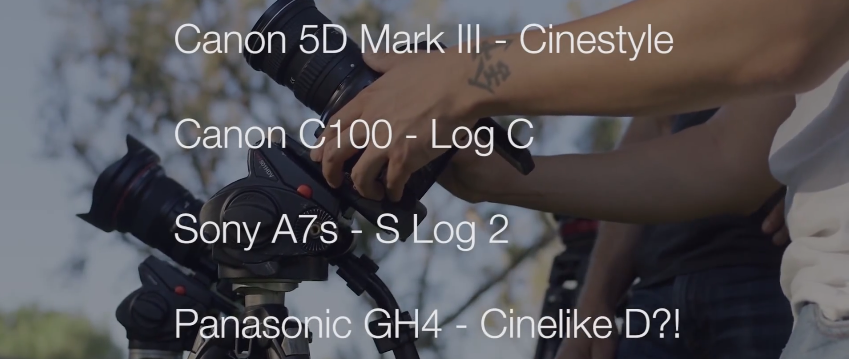 Canon C100 vs GH4 vs 5D Mark III vs A7s LOG Settings