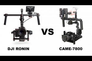 DJI Ronin and CAME-7800 3-Axis Gimbals Side-by-Side Comparison
