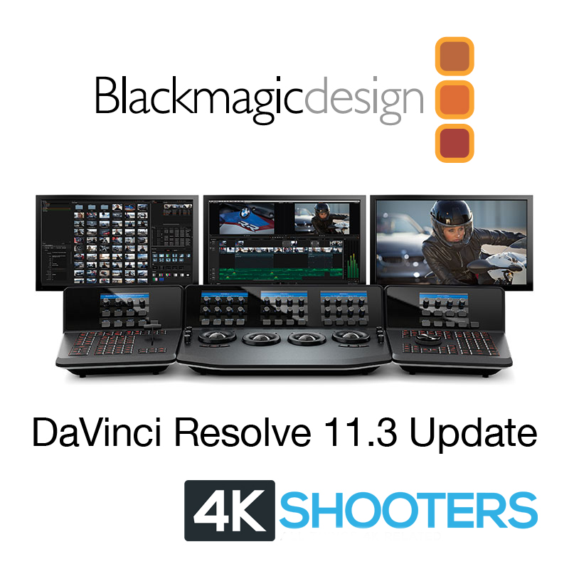 Blackmagic DaVinci Resolve 11 3 Adds Sony XAVC-Intra Support | 4K
