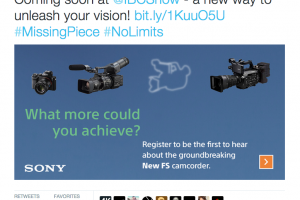 Sony Tease a New FS Camera to be Announced at IBC 2015 #NoLimits