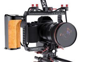 MOZA Cage With Additional Remote Control and Power Supply System for Your Sony A7s, BMPCC and GH4