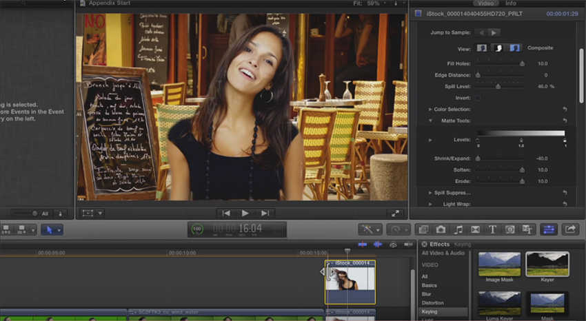 FCP-X Tutorial: Removing a Challenging Background From a