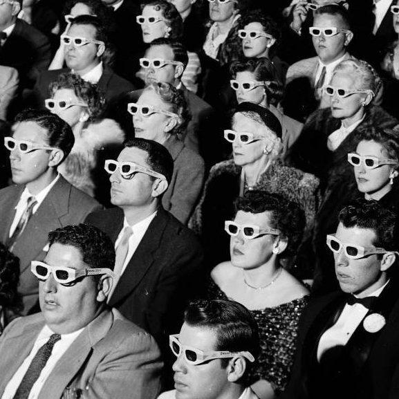 3D Glasses Cinema Audience