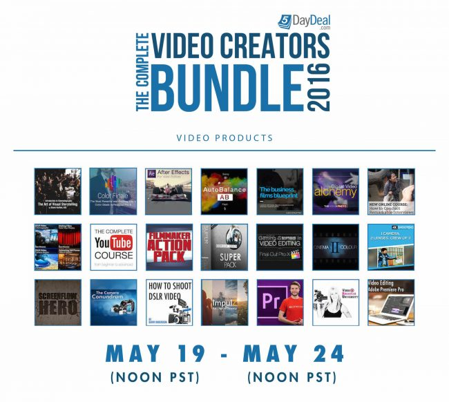 5DayDeal Video Creators Bundle 2016