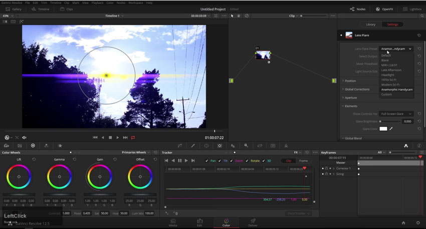 Adding_Lens_Flare_in_DaVinci_Resolve_12.5.1_01