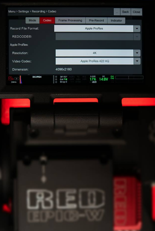 RED Epic-W 4K prores