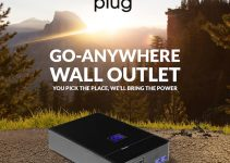 PLUG is a High-Capacity Battery Pack with two AC Wall Outlets and Solar Charging