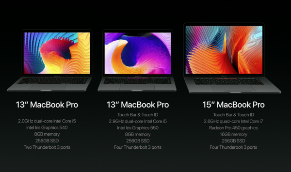 MacBook Pro LIne-up 2016