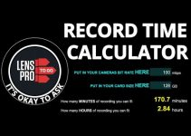 This Free Record Time Calculator Figures the Exact Amount of Footage You Can Fit on Your Memory Card