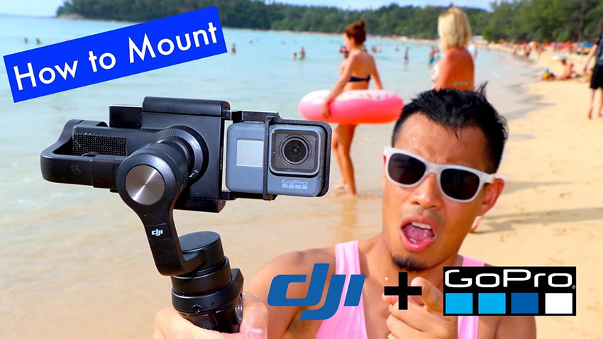 Mounting a GoPro HERO5 Black to a DJI Osmo Mobile | 4K Shooters