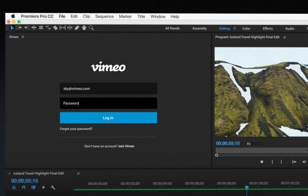 Vimeo Panel for Premiere Pro CC