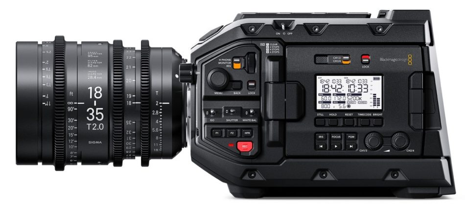 Blackmagic URSA Mini Pro Sigma 18-35mm T2 PL