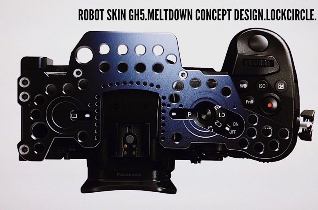 Robot Skin LockCircle Cage GH5 panasonic top view