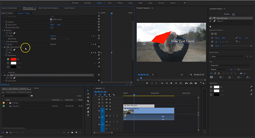Five New Features in Premiere Pro CC 2017 (April Spring Update