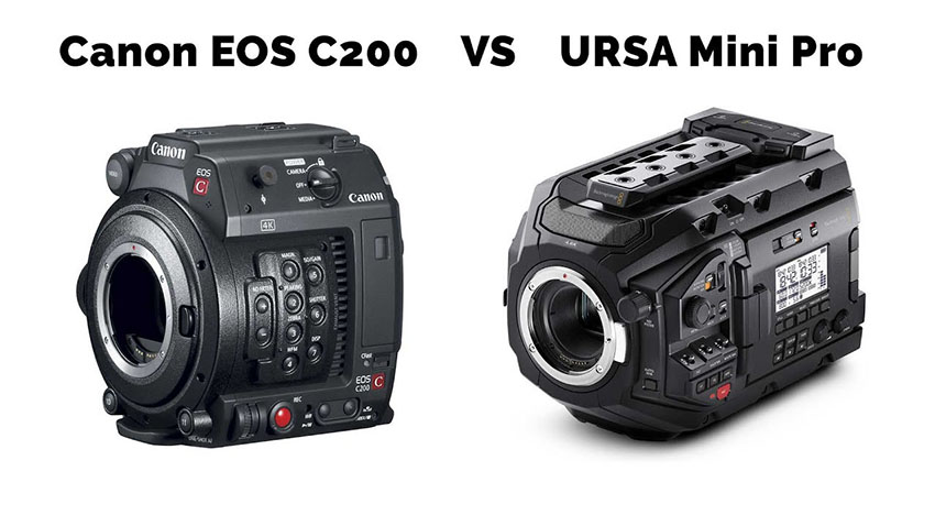 How Does the Canon EOS C200 Stack Up Against the URSA Mini Pro 4 6K