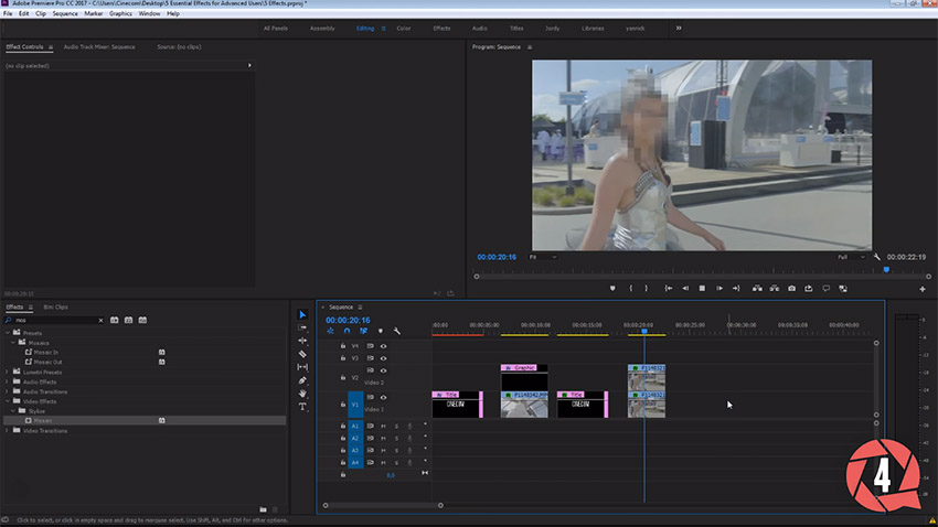 Five Essential Effects In Adobe Premiere Pro Cc 2017 Every Video