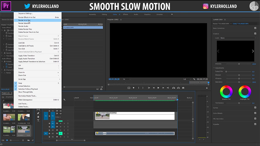 Get Perfectly Smooth Slow Motion in Premiere Pro CC Using