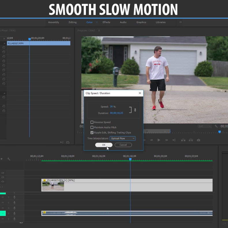 Get Perfectly Smooth Slow Motion in Premiere Pro CC Using This