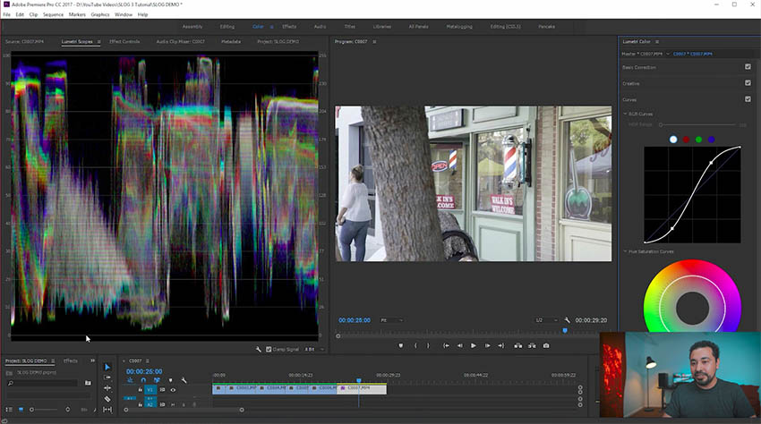 How to Color Grade S-Log 3 Footage in Adobe Premiere PRO CC 2017
