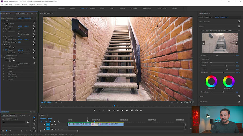How to Color Grade S-Log 3 Footage in Adobe Premiere PRO CC