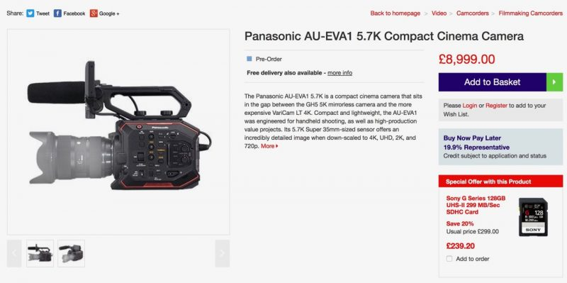 Panasonic EVA1 Price UK