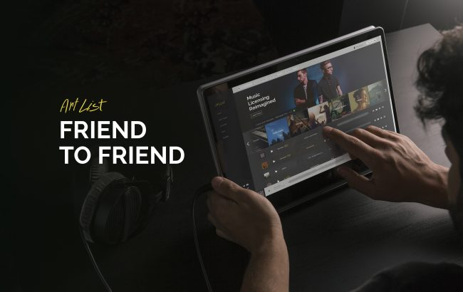 Artlist Friend to Friend referral