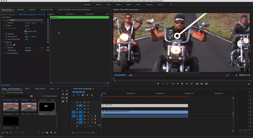 Motion Tracking in Premiere