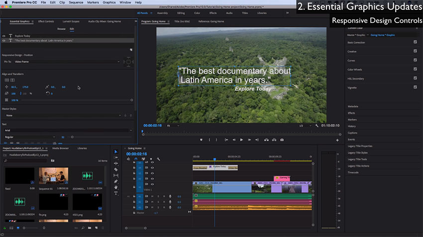 the most exciting new features in adobe premiere pro cc 2018 from a